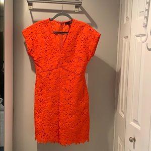 Banana Republic Orange Garden Party Dress!